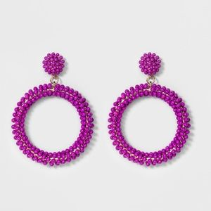 BaubleBar Beaded Hoop Earrings